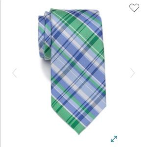 NWT Tommy Hilfiger Allover Plaid Tie Blue & Green
